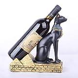VUKUB Ägyptischer Katzen Gott Prägte Weinflaschen Halter Wein Regal-Regal Harz Skulptur Praktische Haus Dekoration Handwerk