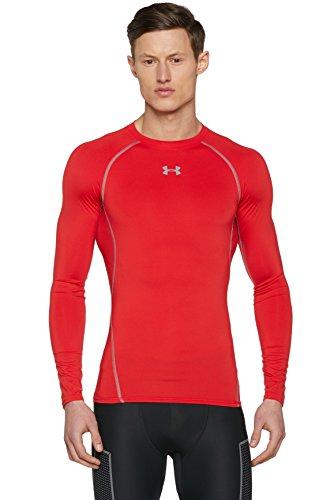 Under Armour Hg Ls Comp Langarm T-Shirt, Herren XXXL Rot