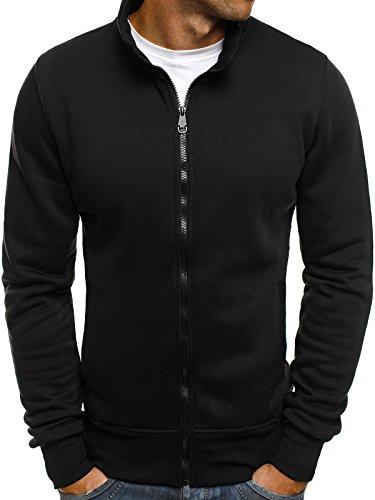 OZONEE Herren Sweatshirt Sweatjacke Pullover Pulli Strickjacke Langarmshirt J. STYLE 2002 XL SCHWARZ