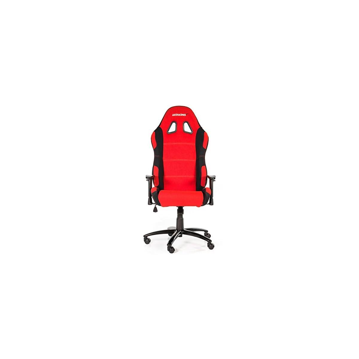 41blL0nWXKL. SS1200  - AKRacing Prime - AK-7018-BR - Silla Gaming, Color Negro/Rojo