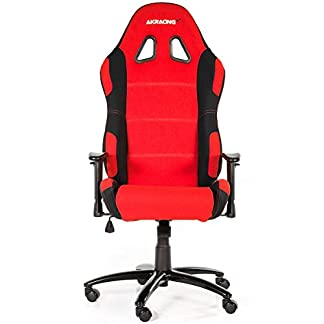 AKRacing Prime – AK-7018-BR – Silla Gaming, Color Negro/Rojo