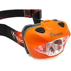 Linterna Frontal LED de Alta Potencia Ideal Para Correr, Caminar, Ir de Acampada, Leer, & Hacer Senderismo. Poderosa Linterna LED de Cabeza con Correa Ajustable, Resistente al Agua & Fácil de Usar