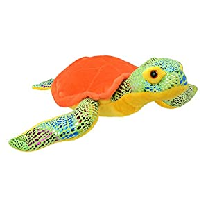 Wild Planet- All About Nature-25cm Tortuga Naranja-Hecho a Mano, Peluche Realistico, (K7937)