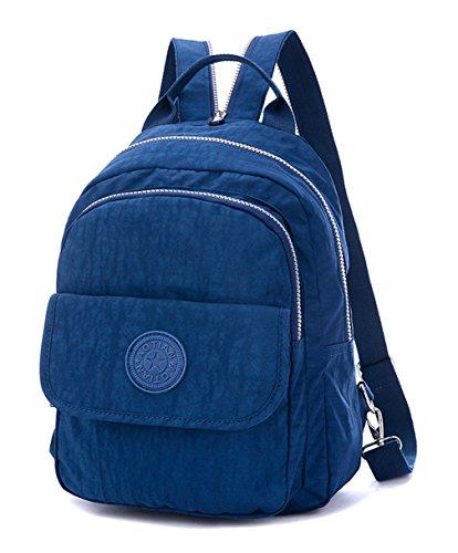 Keshi Leinwand neuer Stil Damen accessories hohe Qualität Einfache Tasche Schultertasche Freizeitrucksack Tasche Rucksäcke Tiefblau