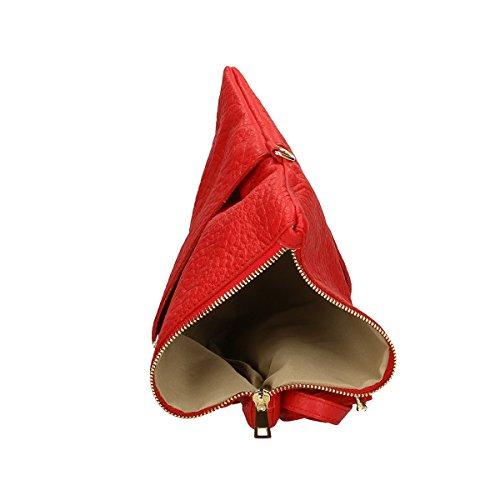Rosso 26x14 100 in a pelle Borse Genuine Leather tracolla Chicca Borsa 5x4 ZFYqYP