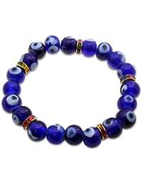 Jaz's Evil Eye-Buri Nazar-Buri Drishti-Nazar Suraksha-Blue Beads Bracelet-Good Luck Protection Beads Bracelet-...