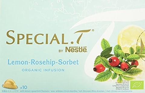 SPECIAL.T by Nestlé Infusion Biologique au Citron Granité Citron 10 capsules - Lot de 4
