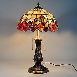 LOCO 40W Lampada da Tavolo Vintage Con Shell naturale pezzi insieme all'ombra