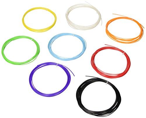 NuNus Polypropylen (PP) Filament 1.75mm Multicolore Set 7 Couleurs avec 5 mètre 3D Imprimeur Bobine de Fil Plastique