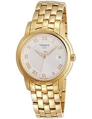 Tissot T031.410.33.033.00 - Reloj analógico para hombre, correa de acero inoxidable chapado color amarillo