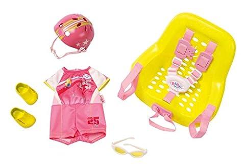 Zapf Creation 822296 - Baby born, 25 Geburtstag Set, Fahrrad, rosa