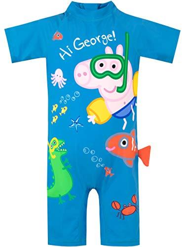 Peppa Pig Bañador para Niño George Pig Azul 3-4 Años