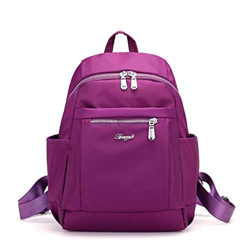 Pingtr - Daypack/Tagesrucksack,Frauen Männer Mode Große Kapazität Rucksack Nylon Wasserdichte Reisetaschen Schultasche (LxBXH:27x3x35cm)