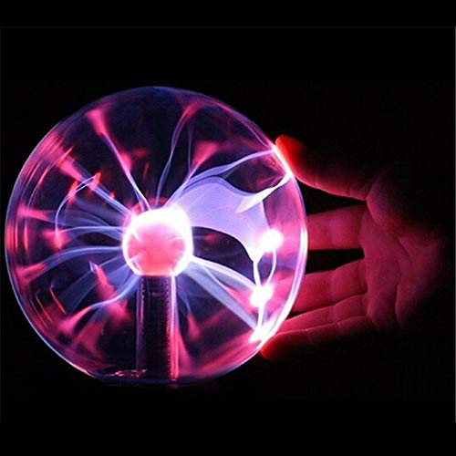 5Magic Crystal Globe Desktop Lamp Plasma Ball 8W 12V Touch Nebula Light Decoration For Home Parties Cafe Bars (Light Crystal Globe)