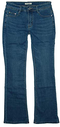 Voggo Damen Stretch Boot-Cut Jeans Hose, Blue (Used) V1069, Gr.38 -