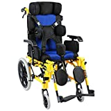MLX Silla De Ruedas Para Niños, Plegable Portátil, Parálisis Cerebral, Rehabilitación, Silla De Ruedas, Carro Para Niños (Tamaño : Seat width 39cm)