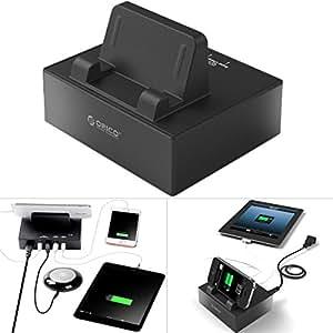Alienwork Chargeur secteur pour universal USB 4-ports 30W 5V 6A alimentation Charger Power compatible pour les appareils Apple et Android Support Plastique noir UB.DPC-4US-BK