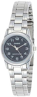 CASIO LTP-V001D-1 - Reloj con movimiento cuarzo, para mujer, color negro y plateado