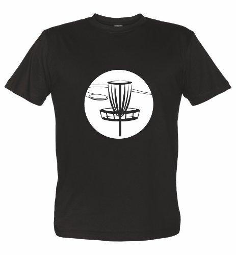 Disc Golf Fan T-Shirt von Schwarz-weiß XL