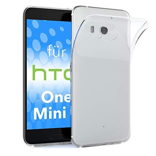EAZY CASE HTC One Mini 2 Schutzhülle Silikon, Ultra dünn, Slimcover, Handyhülle, Silikonhülle, Backcover, Durchsichtig, Klar Transparent
