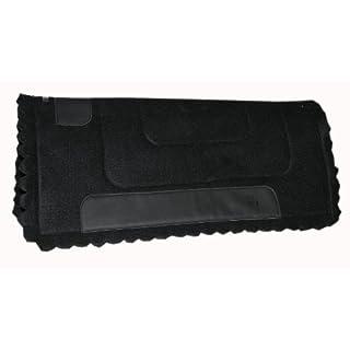 AMKA Westernpad ca. 1 cm dick | Western Arbeits Pad | Felt-Work Pad schwarz | Western Filzpad | Western Felt Saddle Pad