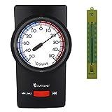 Lantelme Hygrometer Thermometer Digital Maximum Minimum und Analogthermometer in pink 3266