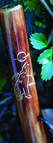 Wolf Take A Hike Compass Folding Walking Stick with Travel Pouch - 48 In. Long by Manual Woodworker