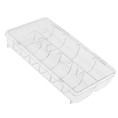 MagiDeal Boîte Vide de Rangement en Plastique Transparent pour 500pcs Faux Ongles Capsule Nail Art Manucure Stockage Organisateur Bijoux