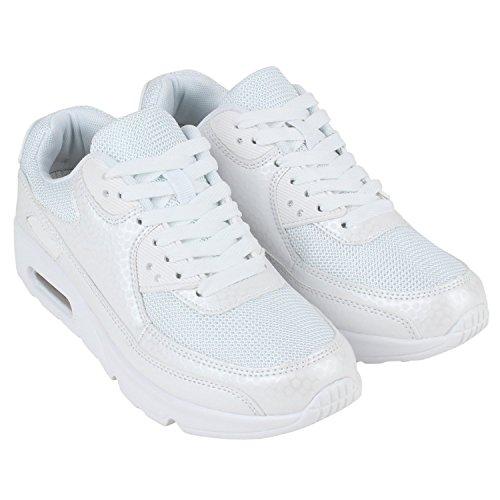 Japado–Chaussures de gymnastique basses femme Blanc - Weiss Muster