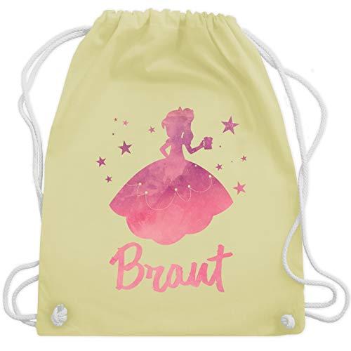 JGA Junggesellinnenabschied - JGA Prinzessin - Braut - Unisize - Pastell Gelb - WM110 - Turnbeutel & Gym Bag