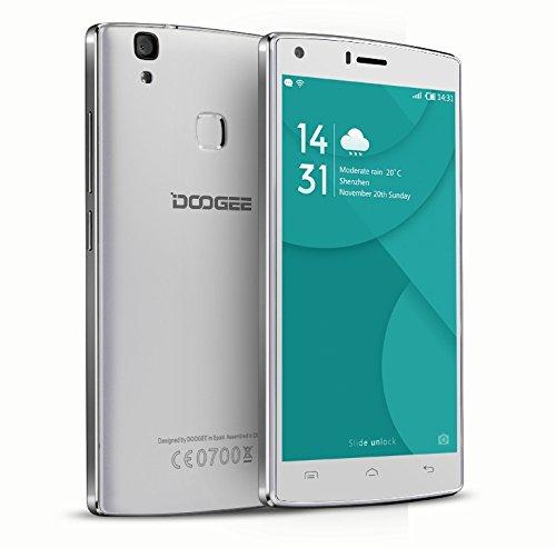 Doogee X5 MAX, 4000mAh batería, huella digital, 8MP + 8MP cámara, Android 6.0, 5 pulgadas HD LCD, smartphone libre (Blanco)