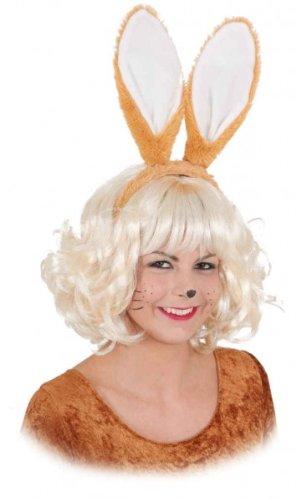 Hasenohren Häschenohren am Bügel braun / - Braun Hasenohren Kostüm