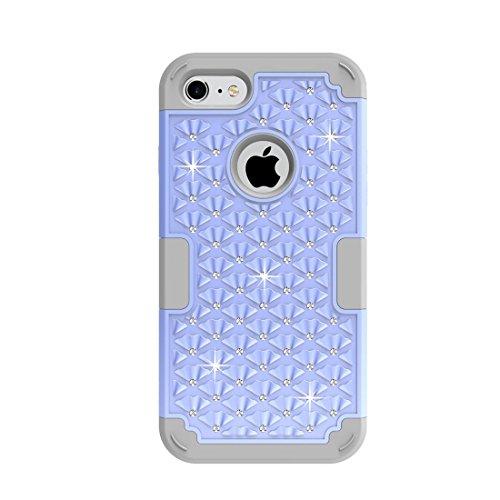GHC Cases & Covers, Für iPhone 7 3 in 1 Diamond verkrustete PC + Silikon Kombination Fall ( SKU : Ip7g3200jb ) Ip7g3200ph