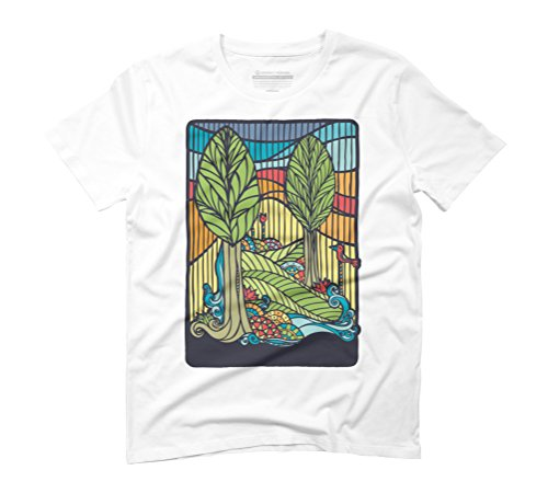 Sunset Men's Graphic T-Shirt - Design By Humans White