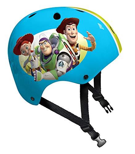 (Stamp Woody-Buzz L'ECLAIRE-Jessie Skatehelm Toy Story 4, C867102, Blau, Grün, 54-60 cm)