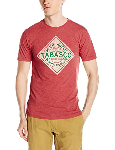 isaac-morris-mens-tabasco-label-short-sleeve-t-shirt-red-small