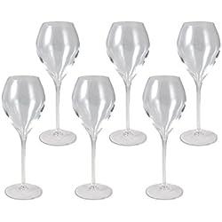 6 Veuve Clicquot Champagner Gläser