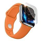 Glas Film für Apple Watch Series 4, 12shage 40 mm iWatch 4 Ex-Schutz TPU Glas-Schirm-Schutz (3pc)