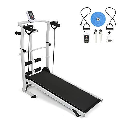 YIFAA Manual Cinta de Correr, Maquina de Correr,Treadmill Fitness Ejercicio,con Pantalla LED...