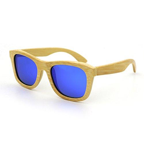 SUKUTU Bamboo Lightweight Wood Entire Frame Sunglasses Polarized Lenses Mens Womens Eyewear Floating Wayfarer Style Glasses