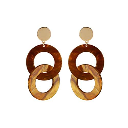 Einfache Geometrische Kreis Ohrringe Temperament Personalisierte Acryl-Ohrringe Legierung Handgemachte Ohrringe