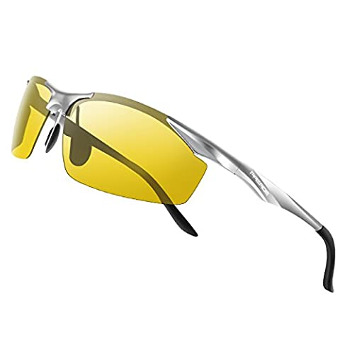 Paerde Sports Lunettes de soleil polarisées pour course à pied Conduite incassable Lunettes de cadre, Night-vision Lens