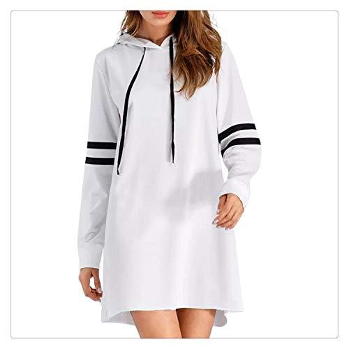 20bca2f3db 2019 Women Fashion Long Sleeve Hoodie Long Sweatshirt Pullover Dress  Personality Sport Casual Jumper Hoodie Dress