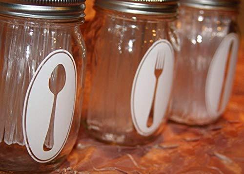 Party Dekoration Aufkleber Aufkleber Set Von 3 Designs Dusche Tisch Dekor Vinyl Geschirr Organisieren Label Aufkleber ()