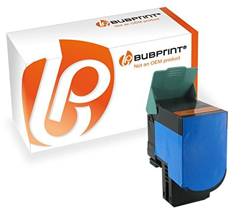 Bubprint Toner kompatibel zu Lexmark CS410 cyan für CS310N CS310DN CS410N CS410DN CS410DTN CS510DE CS510DTE