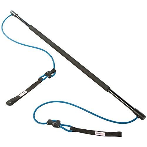 Ultrasport Gymnastikstab mit Gummiseilen – Multifunktions-Fitness-Trainer mit Trainingsanleitung inkl. Transporttasche