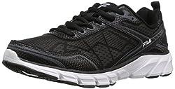 Fila Women s Memory Granted Running Shoe Black/Black/White 7 B(M) US