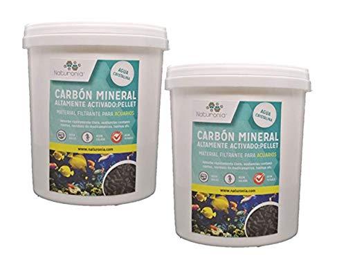 Naturonia PZ037 Carbón Activado Mineral para Acuarios y Estanques, Pellet 4 mm - 2000 ml