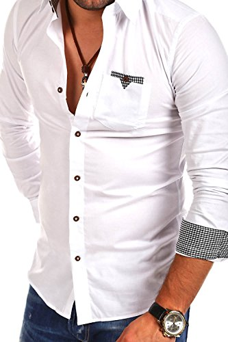 MT Styles Hemd Slim Fit BH-324 Weiß