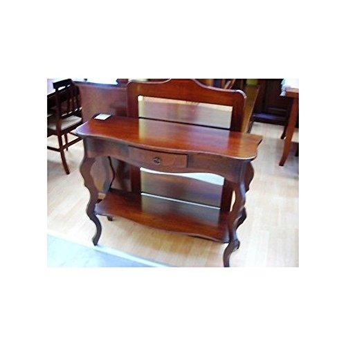 Estea mobili - tavolo consolle legnoe specchio ingresso arte povera - 110553572384